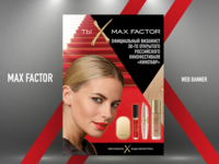 "WEB BANNER FOR ""MAX FACTOR"""