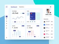 Finance Web App dashboard design finance managment finance app dashboard web webdesign budget banking app banking credit card money transfer balance wallet money finance fintech