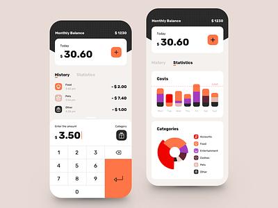 Money Tracker App wallet statement startup spendings money fintech finance credit card banking app banking balance