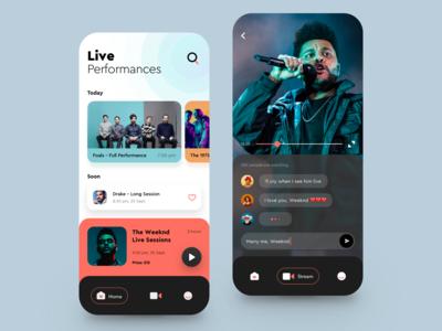 Live Perfomances App