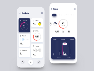 Sport Activity Dashboard App training walking healthy lifestyle tracking app lifestyle fitness app activity fitness