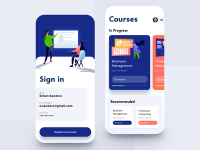 Learning Mobile App modern students science student learning app online classes e-learning edutech education app education mobile study online courses courses learning