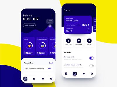 Money Tracker App bank financial app spendings payment transaction tracker virtual card banking app banking money transfer credit card money finance balance wallet fintech mobile mobile banking app
