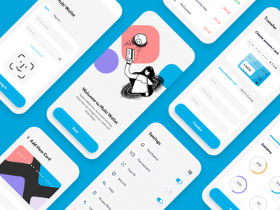 Multi Wallet Screens mobile app payments startup spendings send money expenses income transfer mobile virtual card banking app banking money transfer credit card money finance balance wallet fintech