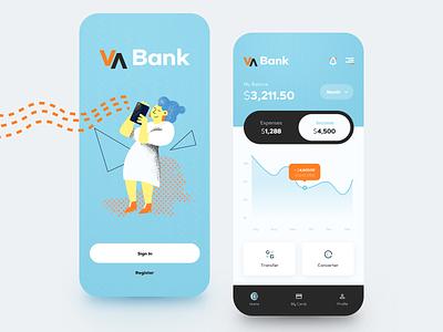 VA Bank App online banking signup transfer converter bank mobile app mobile virtual card banking app banking money transfer credit card money finance balance wallet fintech