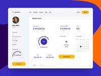 Loansgenics Web App credit students loan product design product web web app virtual card banking app banking credit card money transfer balance wallet money finance fintech