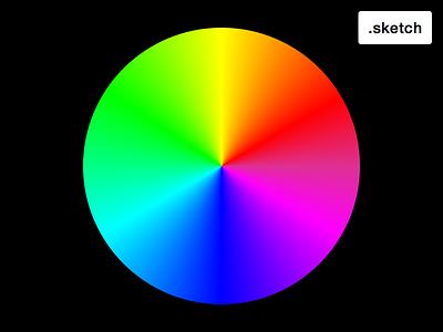 Colour Wheel sketchapp colour wheel rainbow