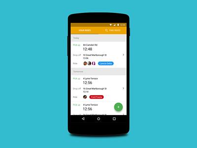 Car material design android app car