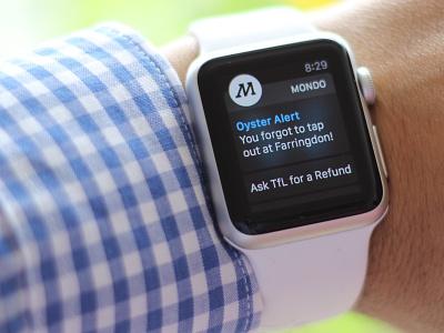 Mondo london oyster tfl fintech banking bank app watch ios