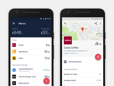 Monzo ❤️ Android monzo bank card app android