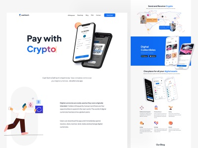 Cash Tech Marketing Site Design 🌐 design indonesian indonesia ui ethereum ether landing page design landing page marketing site bitcoin wallet bitcoin crypto exchange crypto currency cryptocurrency crypto wallet crypto