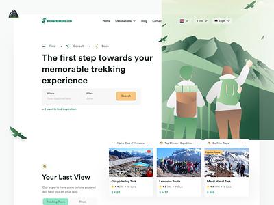 Bookatrekking 2.0 🏔 marketplace green ui design mountains trekking camping web design branding ui clean whitespace