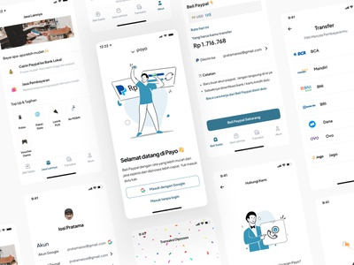 Payo App 2.0 Design Concept 📱 illustration ux sideproject payment paypal design mobile app indonesian mobile app design indonesia ui