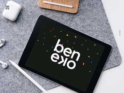 Beneko New Brand 🔥 ecommerce dark black brand identity brand mobile app design branding logo