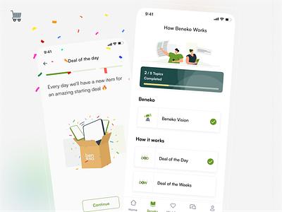 Beneko - How it works 💡 minimalist illustration progress learning electronic ecommerce design mobile app indonesian ux mobile app design indonesia ui