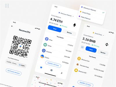 Cash Tech - Multi Blockchain Wallet App📱 dribbble wallet ui wallet bitcoin wallet bitcoin cryptocurrencies crypto eth ethereum blockchain design mobile app indonesian ux mobile app design indonesia ui