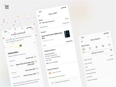 Beneko - Payment Information  & Order Details 🛒 design app design electronics details order details payment green marketplace ecommerce mobile app indonesian ux mobile app design indonesia ui
