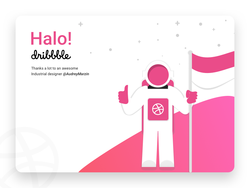 Finally, I landed in the mars. Halo Dribbble indonesia mars month astronaut latest illustration first shot hello dribbble debut