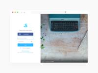 Skrip.in login form redesign