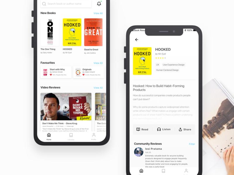 Book Resumes Mobile App Design + Detail Book bookresumeapp user interface ui mobile app design book club book app book indonesia ux ui design