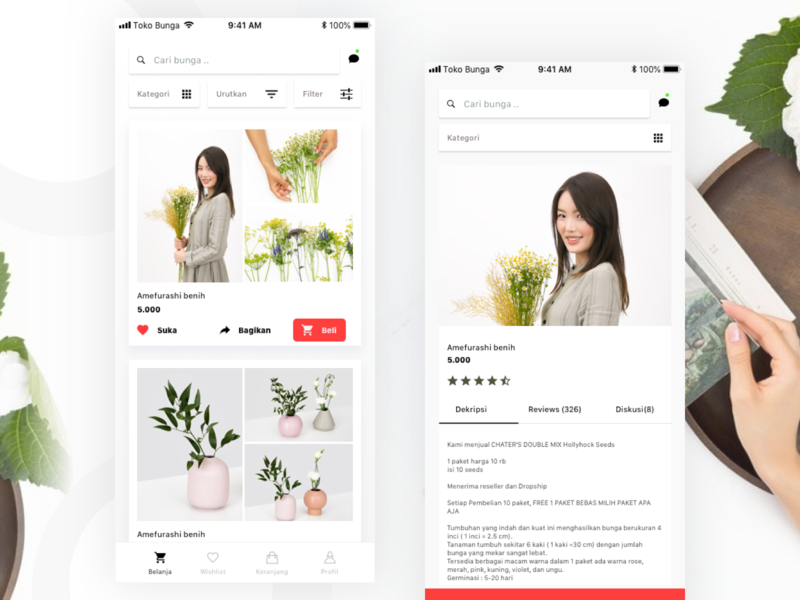 Flower Shop Mobile Design ui ux design ecommerce shop ecommerce app ecommerce design flowershop flower
