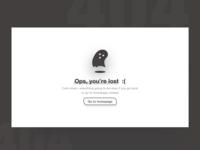 404 Page Design Exploration