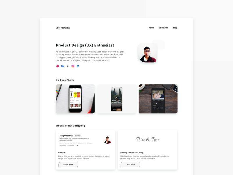 Redesign My Personal Website white cv indonesia ux designer personal brand uxdesigner whitespace minimal portfolio design portfolio page portfolio personal