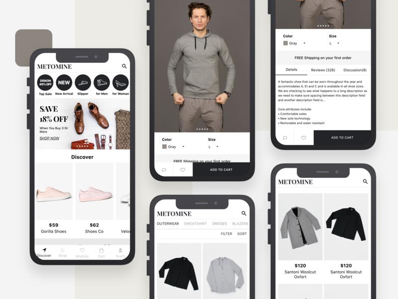 Mobile Fashion E-Commerce App Design ui mobile app mobile app design ecommerce app ecommerce design e-commerce fashion app fashion