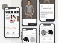 Mobile Fashion E-Commerce App Design