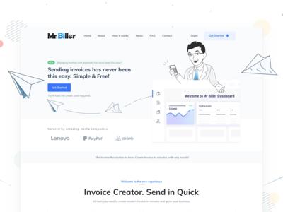 Redesign Landing Page for Mr Biller