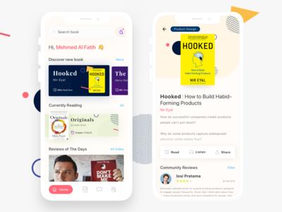 Redesign Book Resume Mobile App