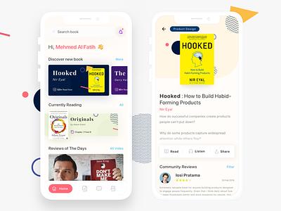 Redesign Book Resume Mobile App ux ui indonesia indonesian mobile app mobile app design books book