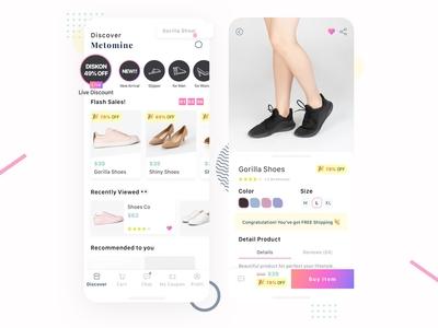 Mobile Shoes E-Commerce App Design