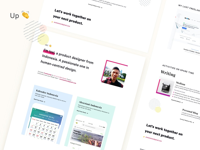 My New Portfolio Site is Up 👏 indonesian landing page ui casestudy portfolio website portfolio design portfolio page portfolio site portfolio