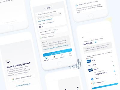 Payo - Beli Paypal : Mobile UI Design indonesia blue paypal mockup mobile app design ux ui