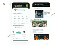 Persebaya Selamanya 🐊 Redesign uidesign crocodile green uiinspirations uiinspiration ui ux mobile app design sports football