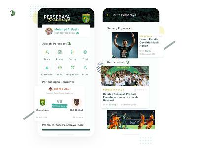 Persebaya Selamanya 🐊 Redesign uidesign crocodile green uiinspirations uiinspiration ui ux mobile app design sports football