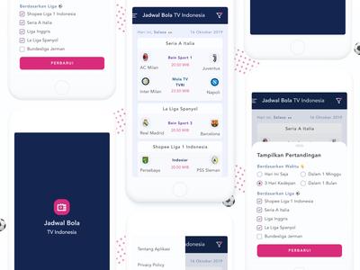 Redesign Jadwal Bola TV Indonesia ⚽ Mobile App