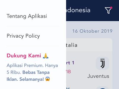 Redesign Jadwal Bola TV Indonesia ⚽ Mobile App ui mobile app inspirations inspiration indonesia mobile app design football club sports design sports footballer football app football sport