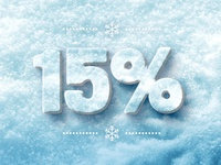 Snow Text: 15% Off