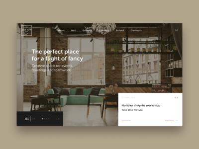 Minimal Website Concept