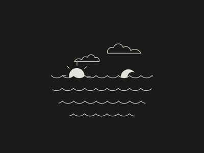 Day and Night night day clouds moon sun animation lottiefiles lottie aftereffects lineart animated