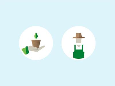 Gardening Icons plant gardener gardening icon