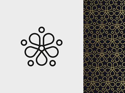 Flower Pattern pentagon floral pattern icon flower