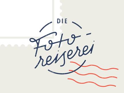 Fotoreiserei stamp custom type handlettering lettering