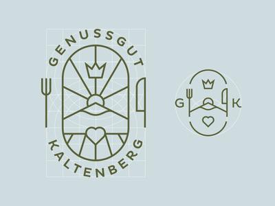 GGK Responsive Logo icon responsive line art illustration branding logo