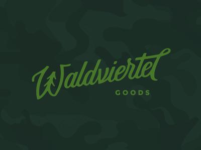 Waldviertel Goods forest tree branding customtype handlettering lettering logo