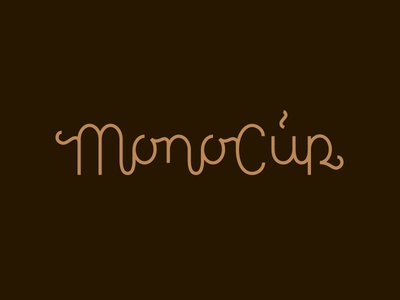 MonoCup Logotype monoline script monoline lettering customtype coffee logo cup of coffee cup logo coffee