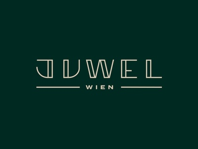 Juwel Logotype identity handlettering logo lettering branding customtype