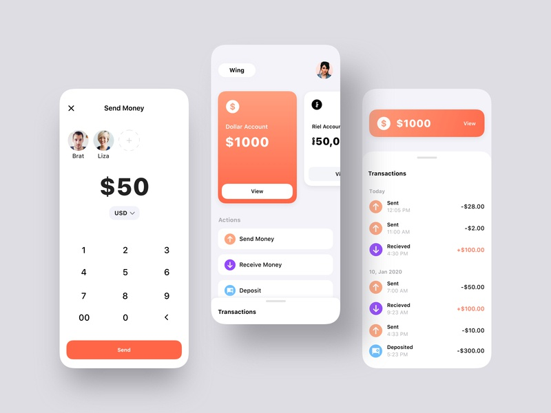 Bakong - បាគង App Redesign Concept payment finance financial app bank app ux ios ui design cambodia ux  ui